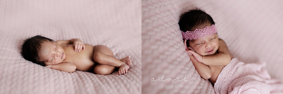 posed newborn photo shoot
