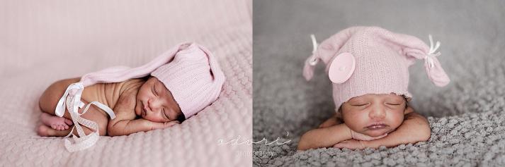 posed newborn photo shoot