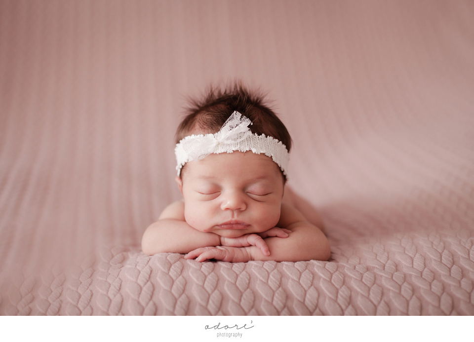 newborn shoot in studio