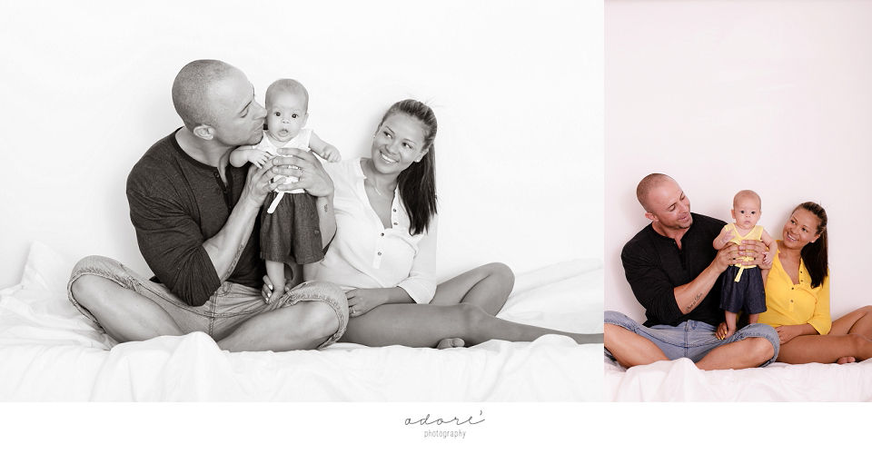 relaxed family photo shoot