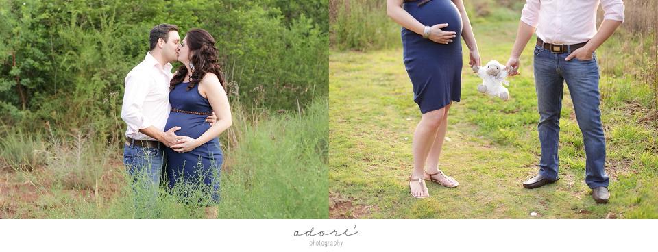 outside maternity shoot