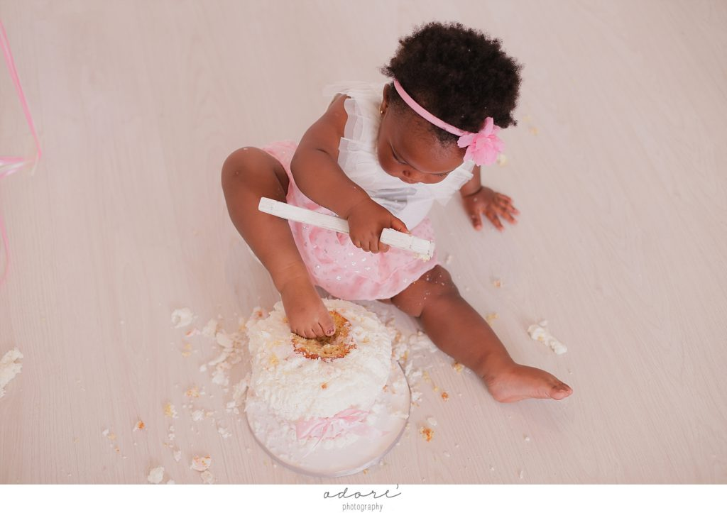 first birthday cake shoot