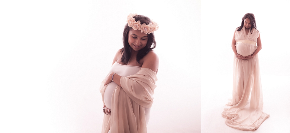 studio maternity shoot