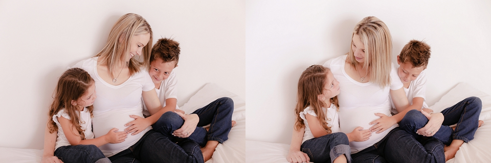 maternity shoot with siblings