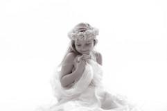 in wedding dress