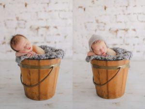 newborn shoot in studio