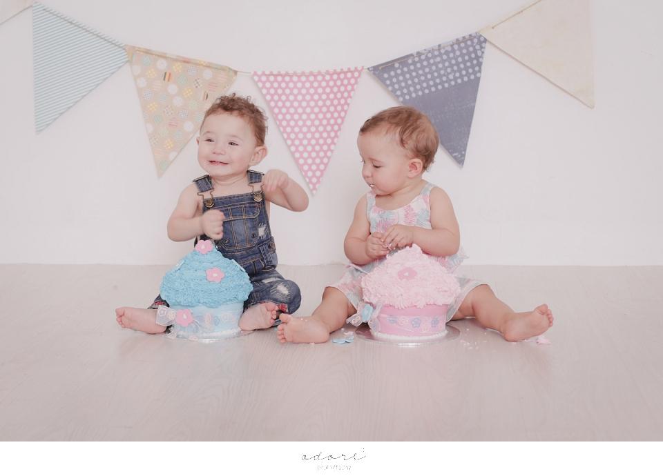 twin cake smash session