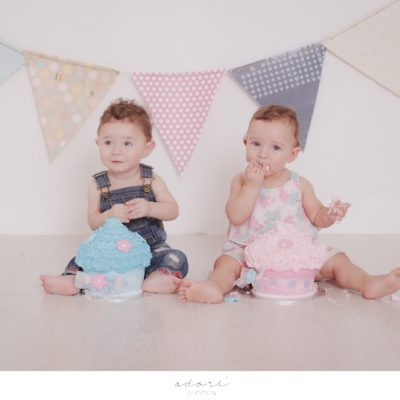 twins cake smash shoot | wilde twins my first year