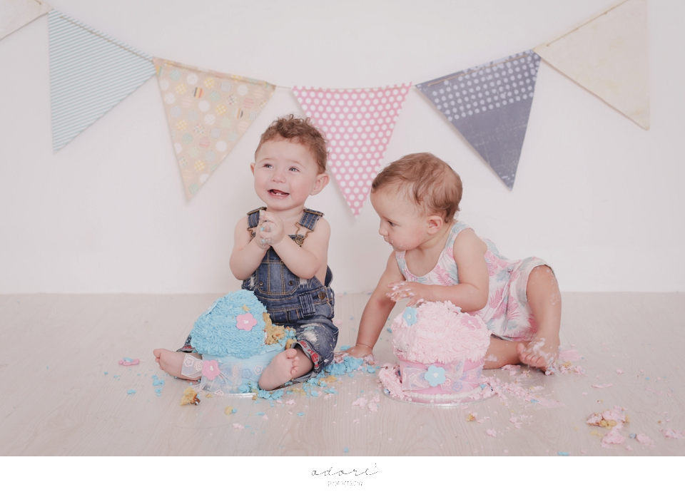 twin cake smash session