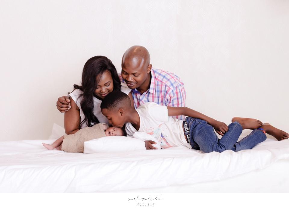 newborn and family shoot