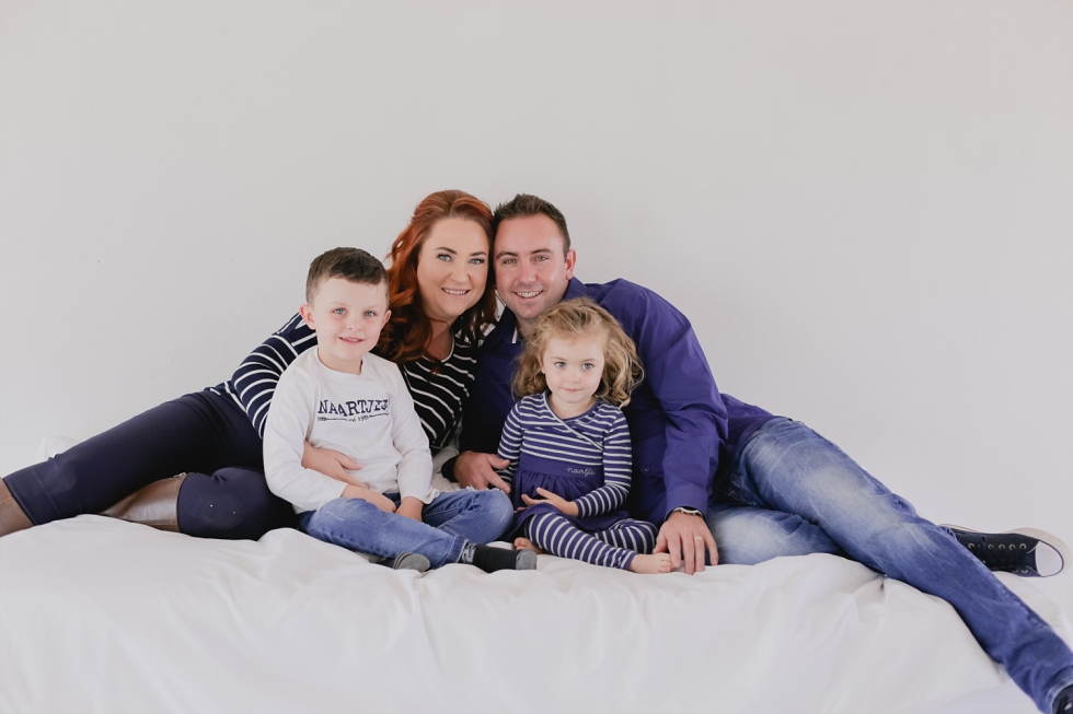 family in studio