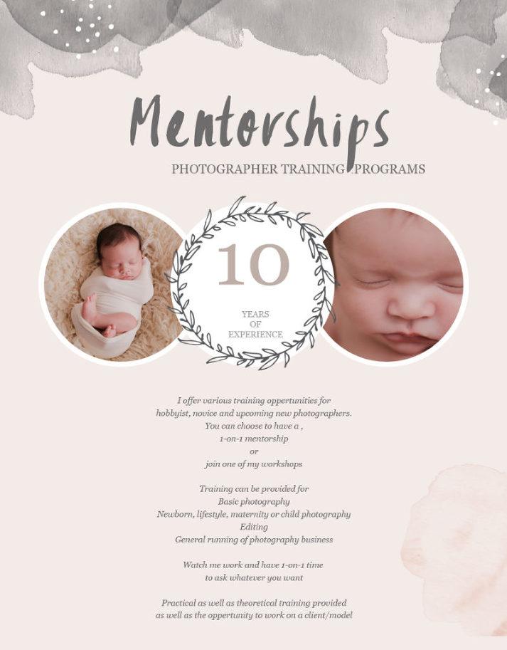 photography training workshops mentoring